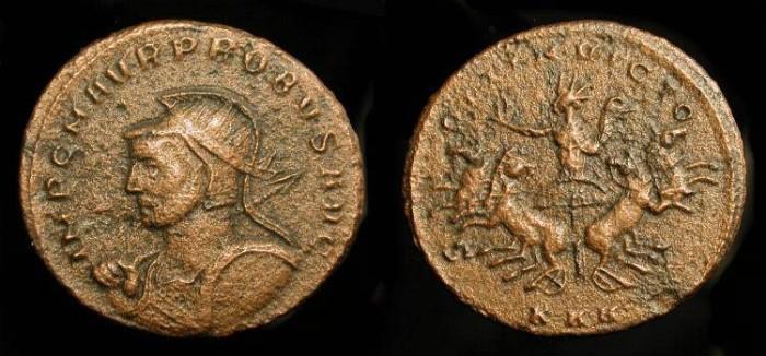 Ancient Coins - Probus  276-282 AD, AE Antoninianus. Serdica Mint. RIC 862