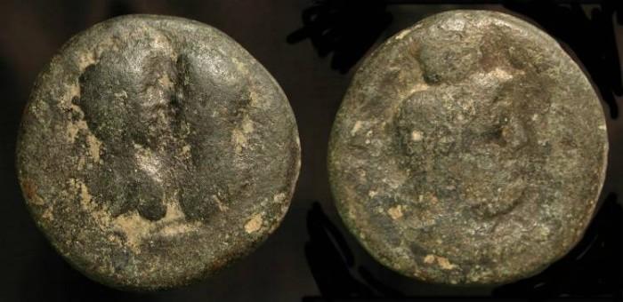 Ancient Coins -  City Coins of Judaea. Aelia Capitolina. Marcus Aurelius & Lucius Verus, 161-180 AD