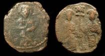 "World Coins - Constantine X "" Ducas"" 1059-1067 AD, with Eudocia. AE Follis.  Constantinople Mint"