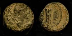 Ancient Coins - Domitian 81-96 AD. AE 12. Caesarea. Judaea Capta.