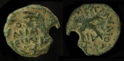 Ancient Coins - > Judaea. Antonius Felix, under Claudius (52 - 60 AD) AE Prutah. H 1347 var