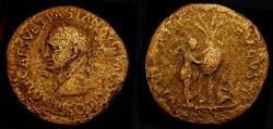 Ancient Coins - Vespasian 69-79 AD. AE Sestertius. Judaea Capta. Rare Variation