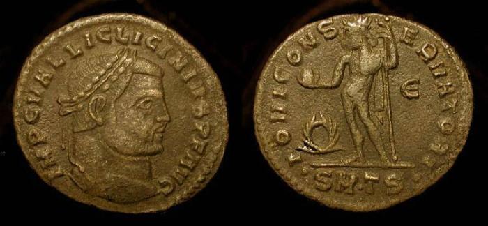 Ancient Coins - Licinius I 308-324 AD, AE Follis. Thesalonika. RIC VI, 49.