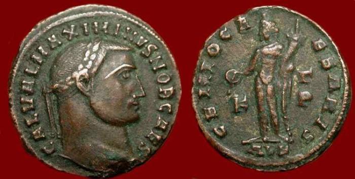Ancient Coins - Maximinus II  As Caesar, 305-308 AD. AE Follis.