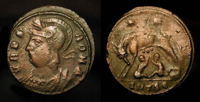 Ancient Coins - City Commemorative, Roma. Circa 330-346 AD. AE 19