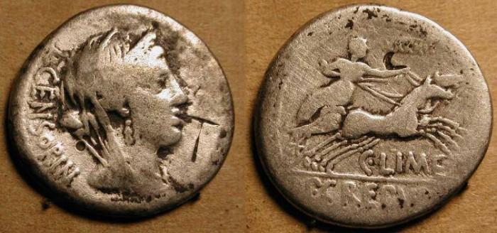 Ancient Coins - zRoman Republic   .  82  BC  .  Marcia 27