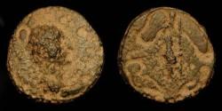 Ancient Coins - Judaea. Herod Agrippa I (37-44 AD). AE 16. Hendin 1242. Very Rare. ex: CNG