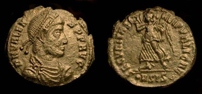 Ancient Coins - Valens  364-367 AD. AE 19  Siscia