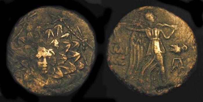 Ancient Coins - Pontos, Amisos. Time of Mithradates VI 85-65 BC. AE 21 mm