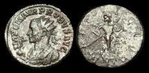 Ancient Coins - Pr83Spl - PROBUS - AE Tin Antoninianus, 5th emission of Serdica, 280-1AD.   Probus holding Victory on Globe.