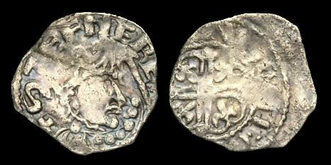 Ancient Coins - NO-FQUK - STEPHEN Southern Cross Moline ('Watford') Type Penny, c1130-45, c12mm, c1.0g.