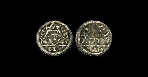 Ancient Coins - IR-PFUJ - KING JOHN - 3rd 'REX' Farthing, ca.1207-11AD.