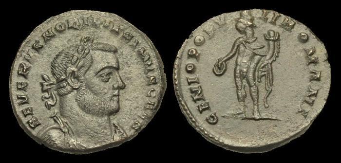 Ancient Coins - LT-FBQP - SEVERUS II CAESAR AE Follis, c305-6AD, c27mm, c8.2g.