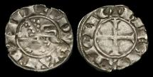 World Coins - AG-KDPU - PRINCE EDWARD (I) As Duke of Aquitaine. AR Denier, ca.1252-72AD.