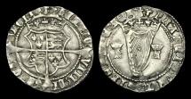 Ancient Coins - IR-DQWJ - IRELAND - HENRY VIII, 2nd Iss. Harp Groat, 1540-2AD.