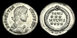 Ancient Coins - LT-KWFW - CONSTANTIUS II - AR Siliqua, ca.351-5AD.    SCARCE THIS NICE !