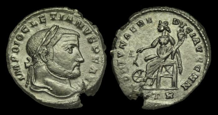 Ancient Coins - LT-DUWK -  Unlisted DIOCLETIAN AE Follis, c295-7, c29mm max., c9.4g.