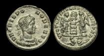 Ancient Coins - LT-KUFP - CRISPUS - AE3, ca.319-20AD.....RARE+, captives in mintmark.....