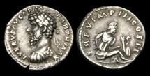 Ancient Coins - TI-BDWB - LUCIUS VERUS - AR Denarius, ca.165AD.                       VERY-RARE - BUST LEFT !!