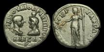 Ancient Coins - IJ-296 - PHILIP II + SERAPIS - Thrace, Mesembria AE26, c244-7, c25mm, c11.2g.