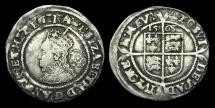 World Coins - TU-WTBF - ELIZABETH I 3rd Iss. Sixpence, 1568