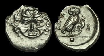 Ancient Coins - GR-DQTT - SICILY - Kamarina AE Onkia, c425-405BC, c14mm, c1.7g.