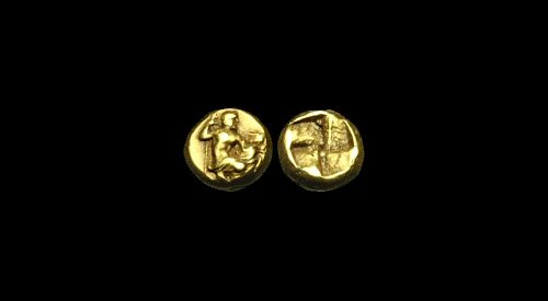 Ancient Coins - GR-WPQT - Unpublished? ASIA MINOR - MYSIA, Kyzikos, Electrum 1/24th Stater, ca.475-410BC