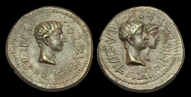 Ancient Coins - IM-DUQT - AUGUSTUS + RHOEMETALCES I, King of Thrace AE24, c11BC-12AD, c24mm, c9.8g