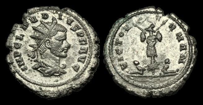 Ancient Coins - AN-KPQF - CLAUDIUS(II) GOTHICUS - Billon Antoninianus,ca.268-70AD.        VICTOR GERMAN