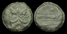 Ancient Coins - OR-TFWD - REPUBLIC - AE As, ca.211-208BC.                               Apex and Hammer
