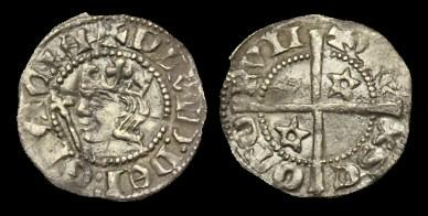 Ancient Coins - SC-DQTK - SCOTLAND - DAVID II, 1st Iss. Halfpenny, 1330-3?.....VERY-RARE.....