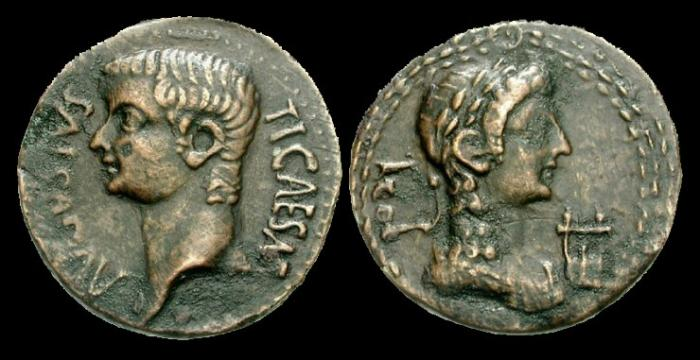 Ancient Coins - IJ-96 - TIBERIUS - Syrtica, Oea (Tripoli), AE28, c14-37AD.....VERY-RARE.....