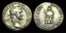 Ancient Coins - TI-JFWT - DOMITIAN - AR Denarius, ca.88AD.                   Celebrating the Secular Games