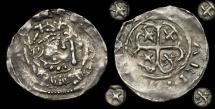 World Coins - NO-JUWQ - Unusual STEPHEN - Cross Moline ('Watford') Ty. Penny, ca.1136-45AD.    REVERSE !!