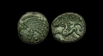 Ancient Coins - CE-DUDW - CELTIC TRINOVANTES Addedomarus AE Unit, ca.33-30BC