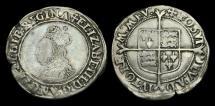 World Coins - TU-DBFJ - ELIZABETH I - 2nd Iss. Shilling, 1560-1AD.