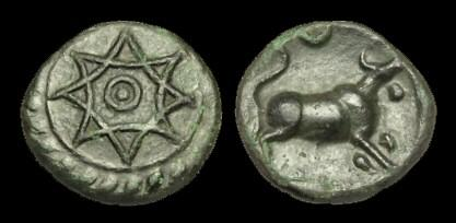 Ancient Coins - CE-DUPD - CATUVELLAUNI - TASCIOVANUS, AE Unit, c15-10BC.....CHOICE.....