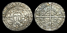 World Coins - LN-UWTB - EDWARD IV - 1st Reign Light Groat Ty.VI, ca.1465-6AD.