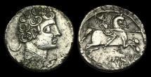 Ancient Coins - CE-PDWT - IBERIAN CELTIC - Segobriga, AR Denier, ca.120-30BC.