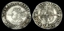 Ancient Coins - TU-PTDJ - ELIZABETH I - 3rd Iss. Large Flan Sixpence, 1561.