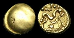 Ancient Coins - CE-PPFT - GALLO BELGIC E 'War Ty. IV', Gold Stater, ca.55BC.
