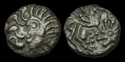 Ancient Coins - CE-WUDP - NORTH WEST GAUL - BELLOVAQUES, AE Unit, ca.50-30BC.