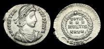 Ancient Coins - LT-BFPD - CONSTANTIUS II - AR Siliqua, ca.351-5AD.                    NICE GRADE !