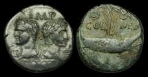 Ancient Coins - OR-PWFU - AUGUSTUS and AGRIPPA Gaul, Nemausus. AE As, ca.27BC-14AD