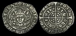 Ancient Coins - LN-TDJF - HENRY VI - Rosette-Mascle Halfgroat, ca.1430-1AD.               FULL and NICE !