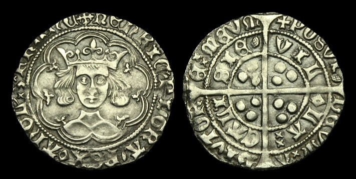 World Coins - LN-KTBP - HENRY VI - Pinecone Mascle Groat, 1431-3AD?                    From the declared Eye hoard