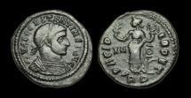 Ancient Coins - LT-PFJD - CONSTANTINE I - AE Half Follis, ca.312-3AD.                             SCARCE