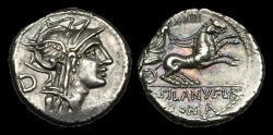 Ancient Coins - RE-KUBT - REPUBLIC - D Junius Silanus L f., AR Denarius, ca.91BC.