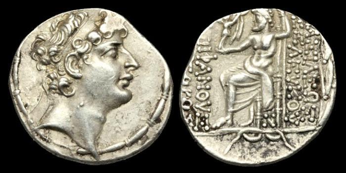 Ancient Coins - GR-BQKQ - SELEUKID KINGS of SYRIA. Seleukos VI Epiphanes, Nikator, AR Tetradrachm, c96-5BC.