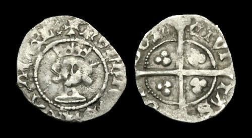World Coins - LN-PTWP - HENRY IV - Heavy Halfpenny, ca.1399-1412AD.        RARE